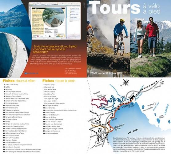 Pochette CD «Promenades à pied et à vélo». Tristan Boy de la Tour, graphiste Lausanne