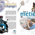 Brochure d'information aux jeunes sur les métiers de l'électricité. Tristan Boy de la Tour, graphiste, Lausanne