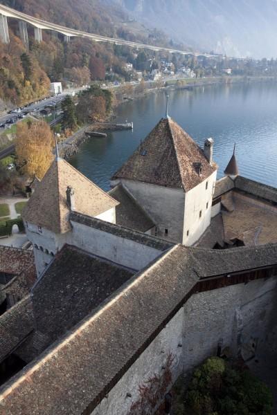 Chillon: panorama pas vraiment médiéval