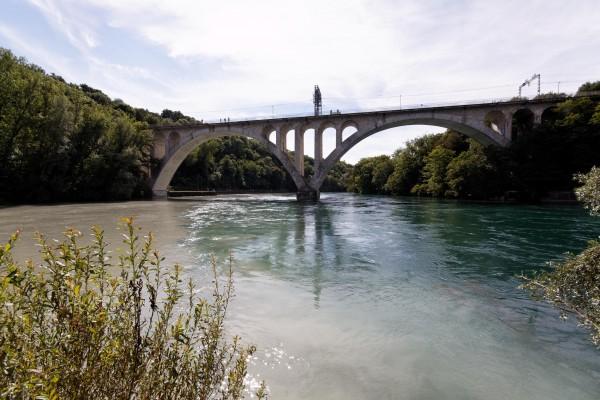 Pont de la Jonction, sur le Rhône