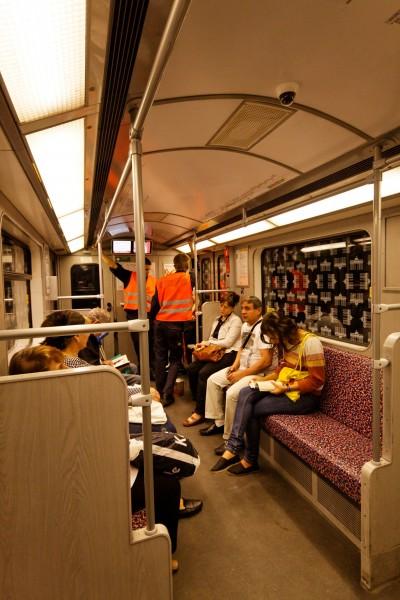 Interieur du métro U2